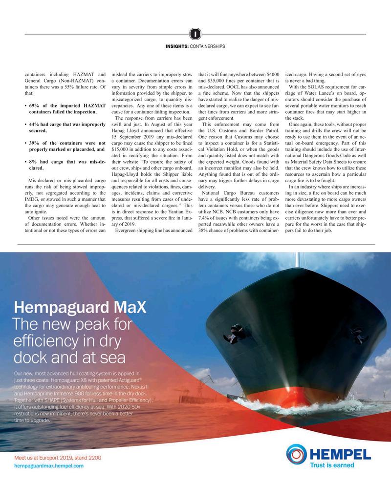 Maritime Reporter Magazine, page 17,  Oct 2019