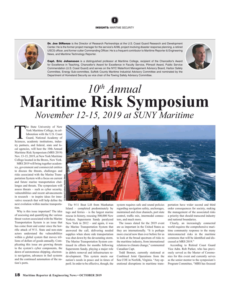 Maritime Reporter Magazine, page 18,  Oct 2019