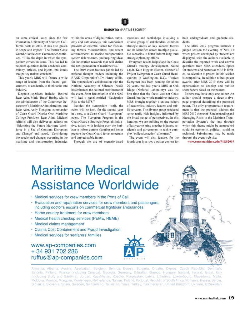 Maritime Reporter Magazine, page 19,  Oct 2019