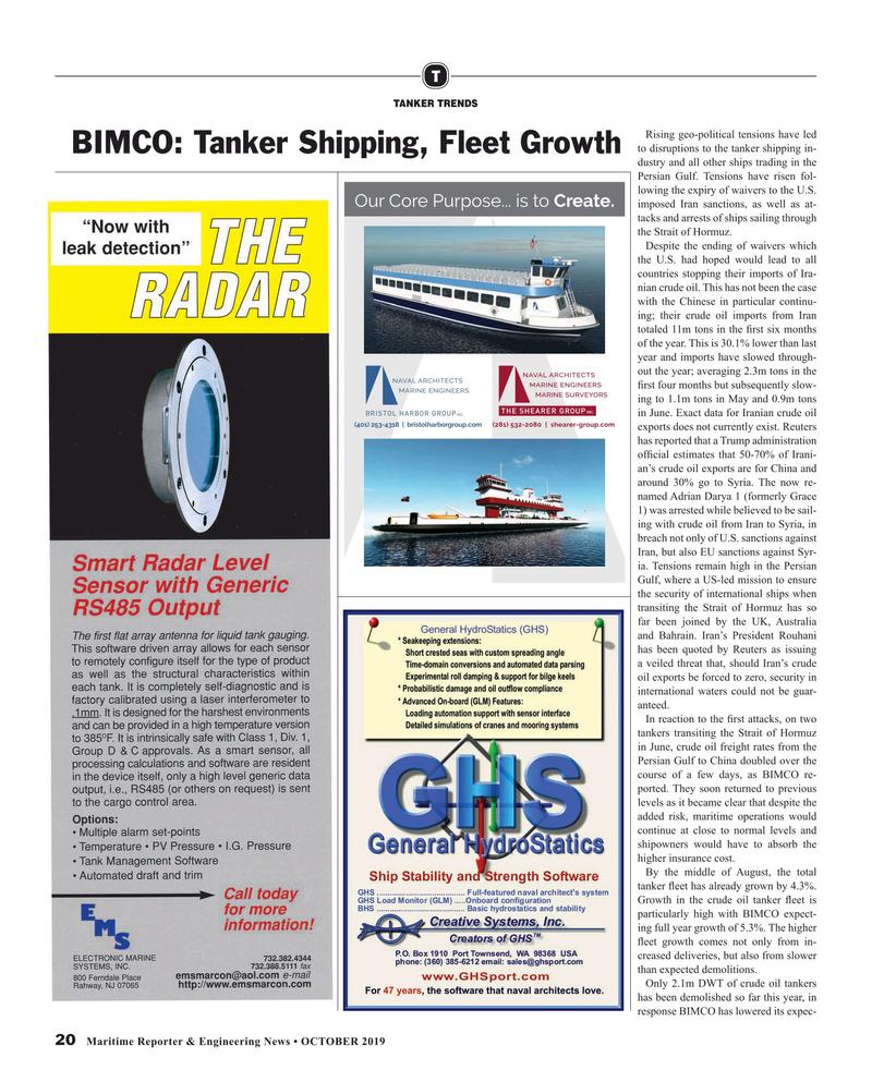 Maritime Reporter Magazine, page 20,  Oct 2019