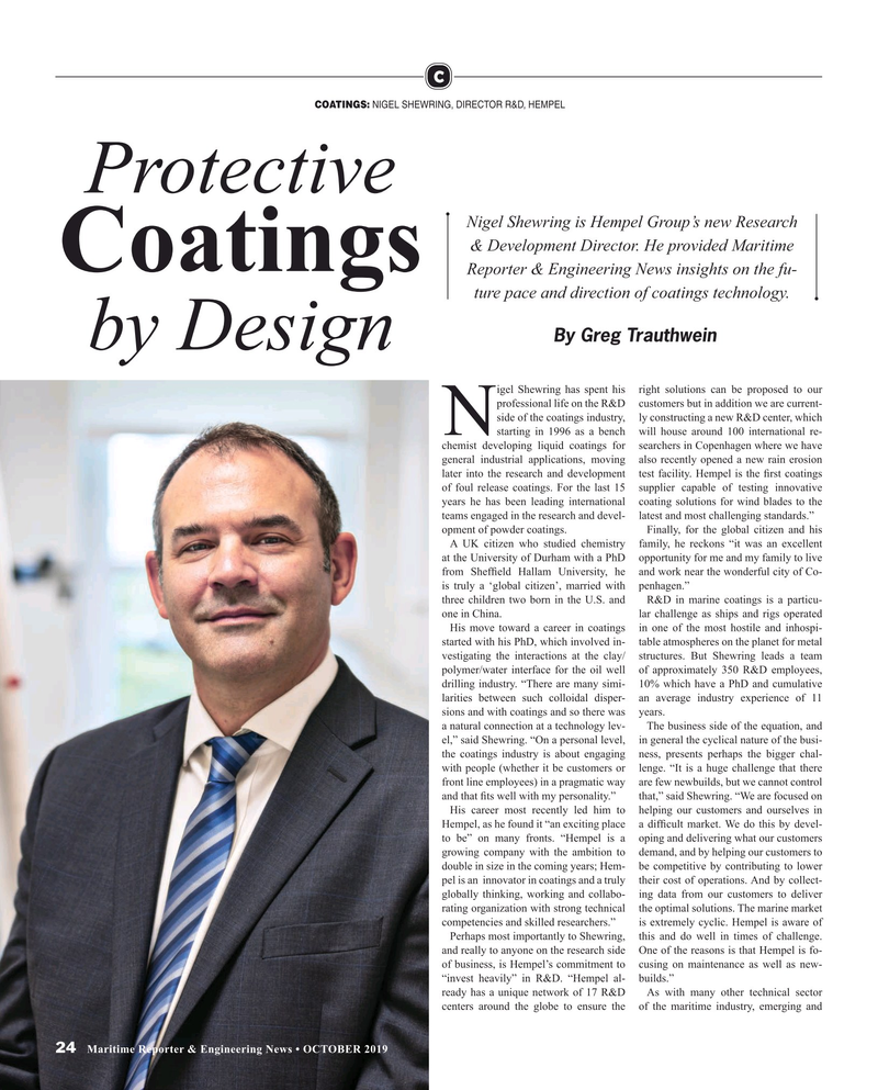 Maritime Reporter Magazine, page 24,  Oct 2019