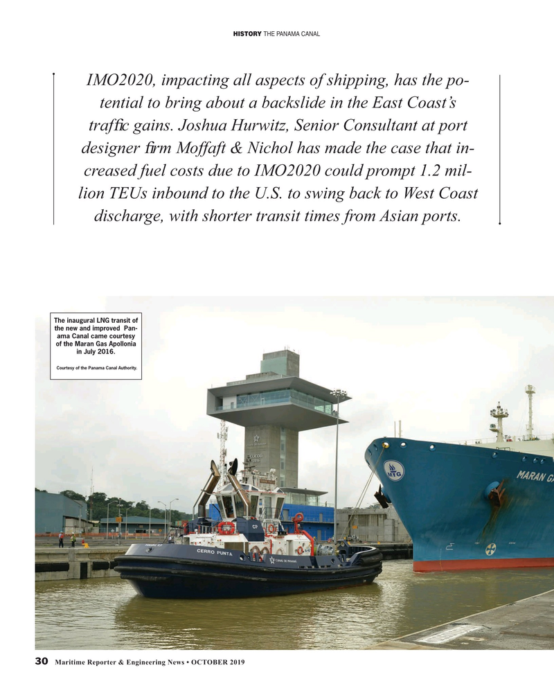 Maritime Reporter Magazine, page 30,  Oct 2019