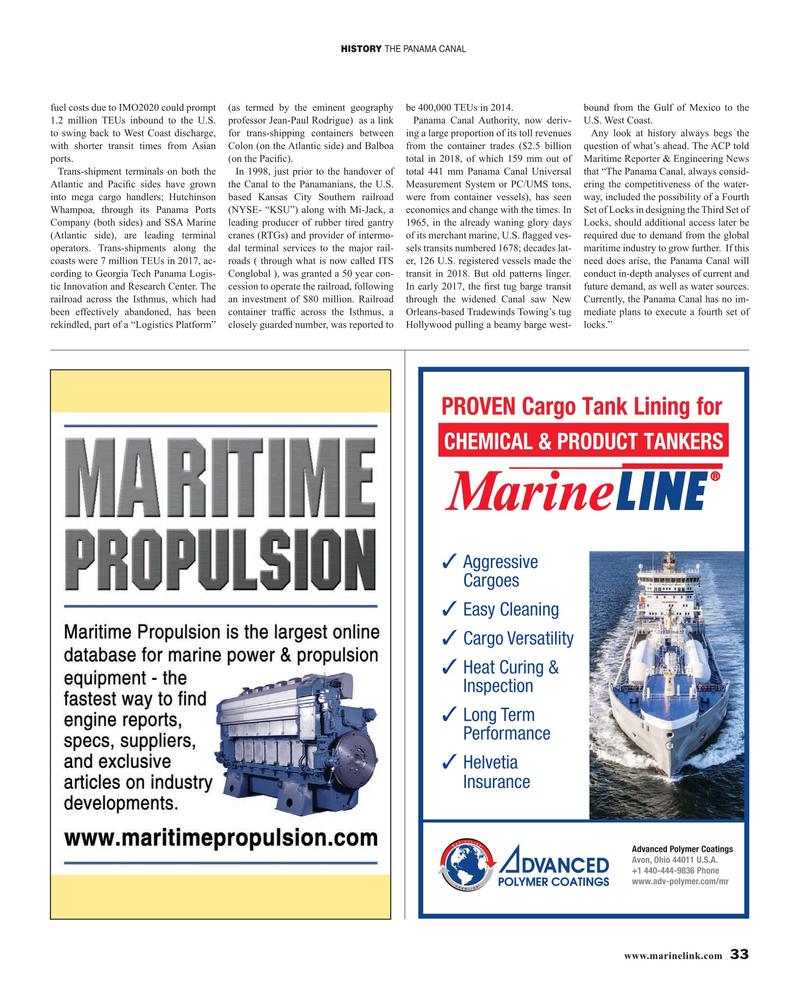 Maritime Reporter Magazine, page 33,  Oct 2019