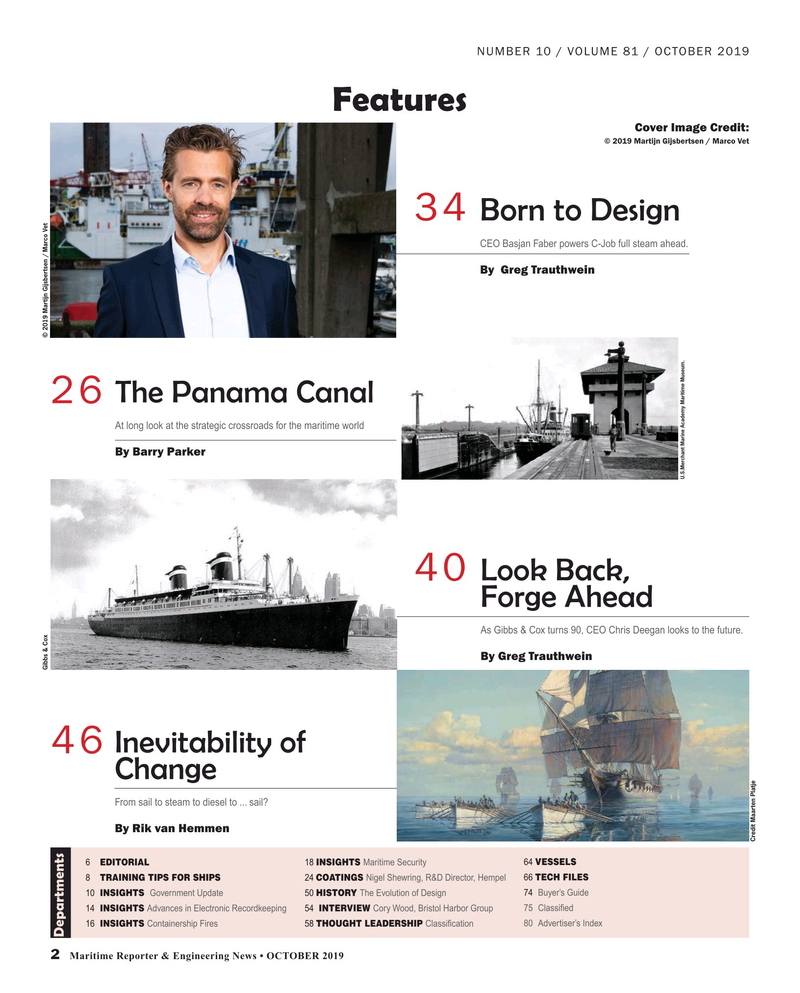 Maritime Reporter Magazine, page 2,  Oct 2019