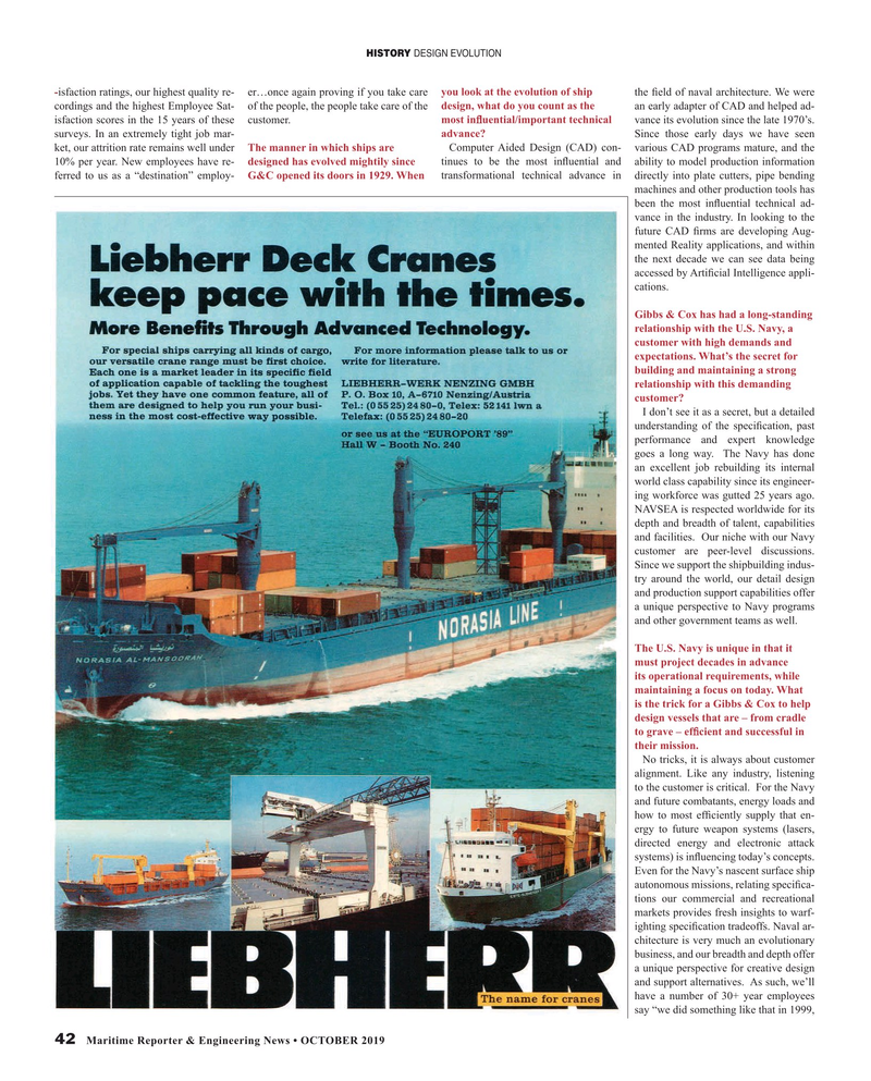 Maritime Reporter Magazine, page 42,  Oct 2019