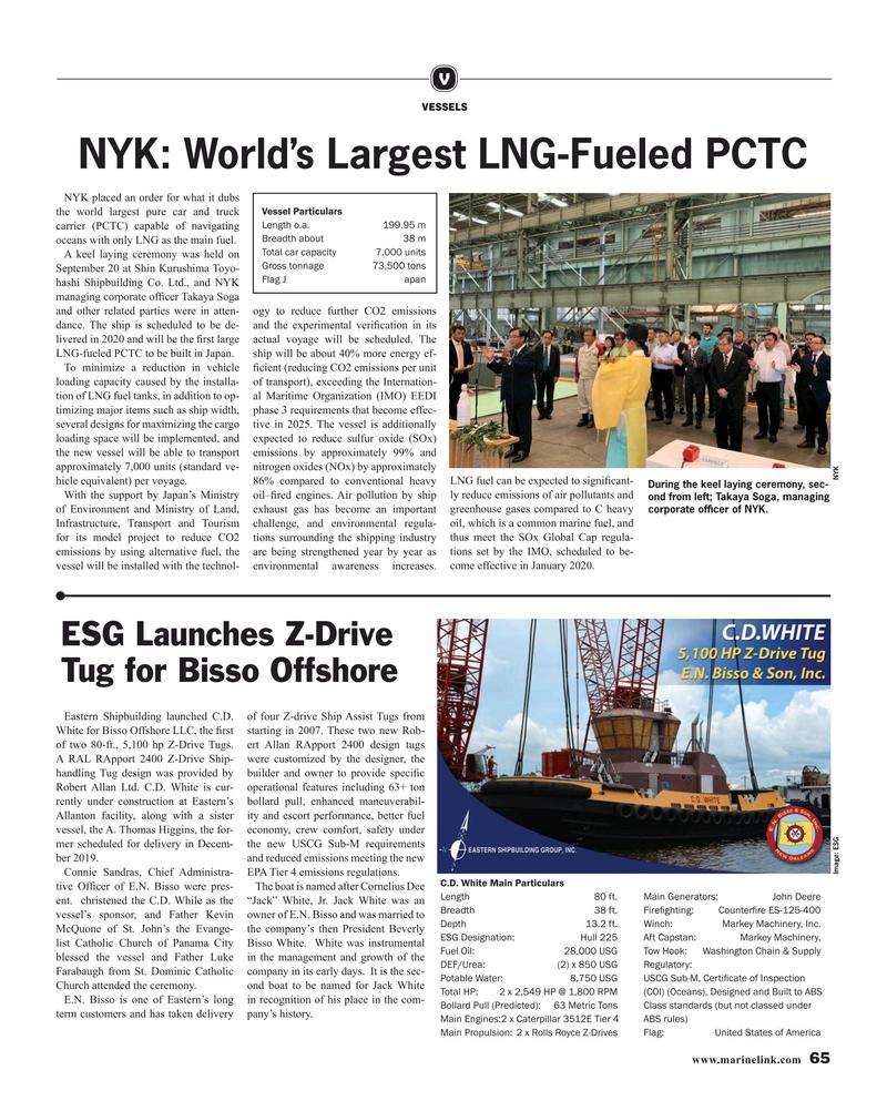 Maritime Reporter Magazine, page 65,  Oct 2019