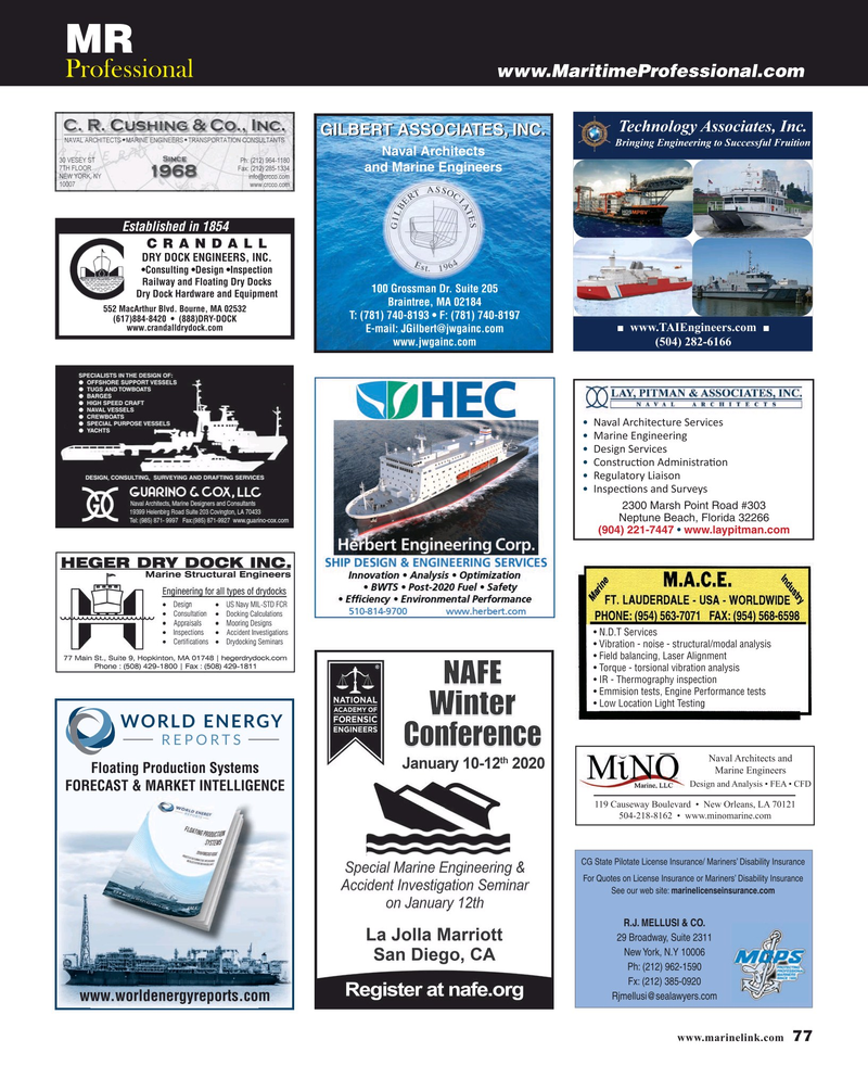 Maritime Reporter Magazine, page 77,  Oct 2019