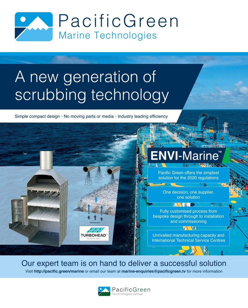 Maritime Reporter Magazine, page 2nd Cover,  Nov 2019