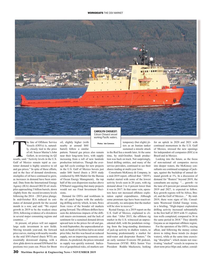 Maritime Reporter Magazine, page 30,  Nov 2019