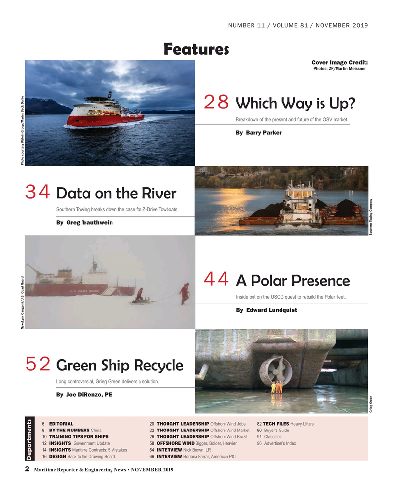 Maritime Reporter Magazine, page 2,  Nov 2019