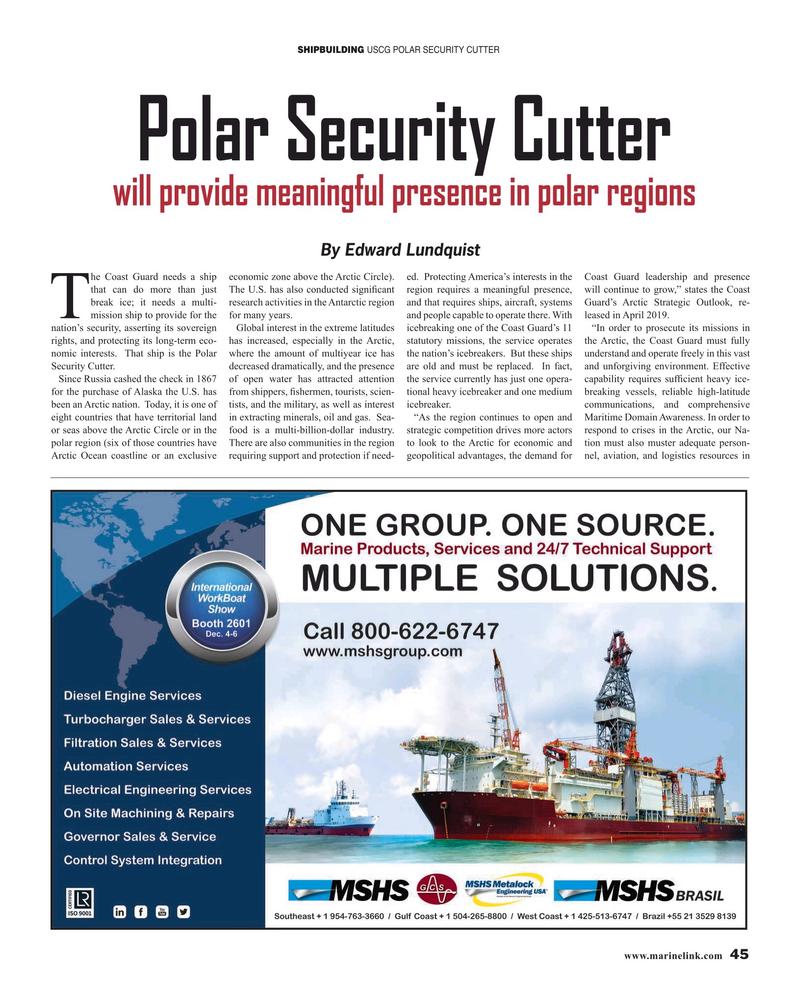 Maritime Reporter Magazine, page 45,  Nov 2019