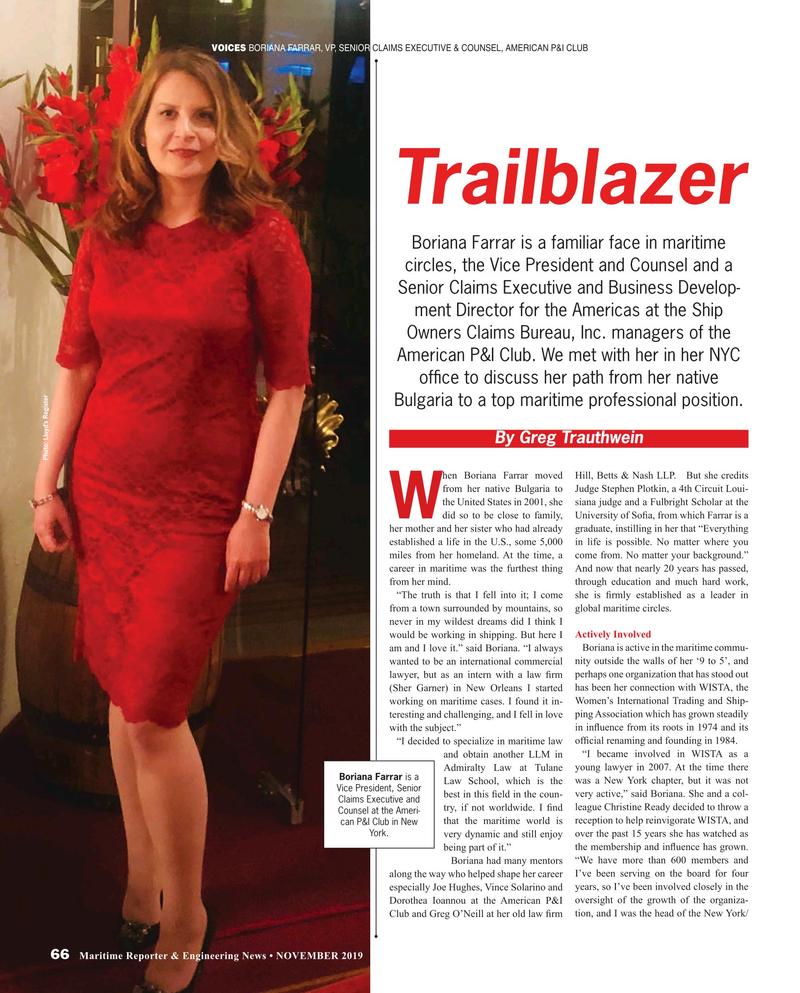 Maritime Reporter Magazine, page 66,  Nov 2019