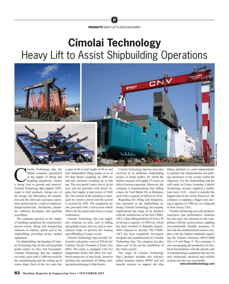 Maritime Reporter Magazine, page 82,  Nov 2019