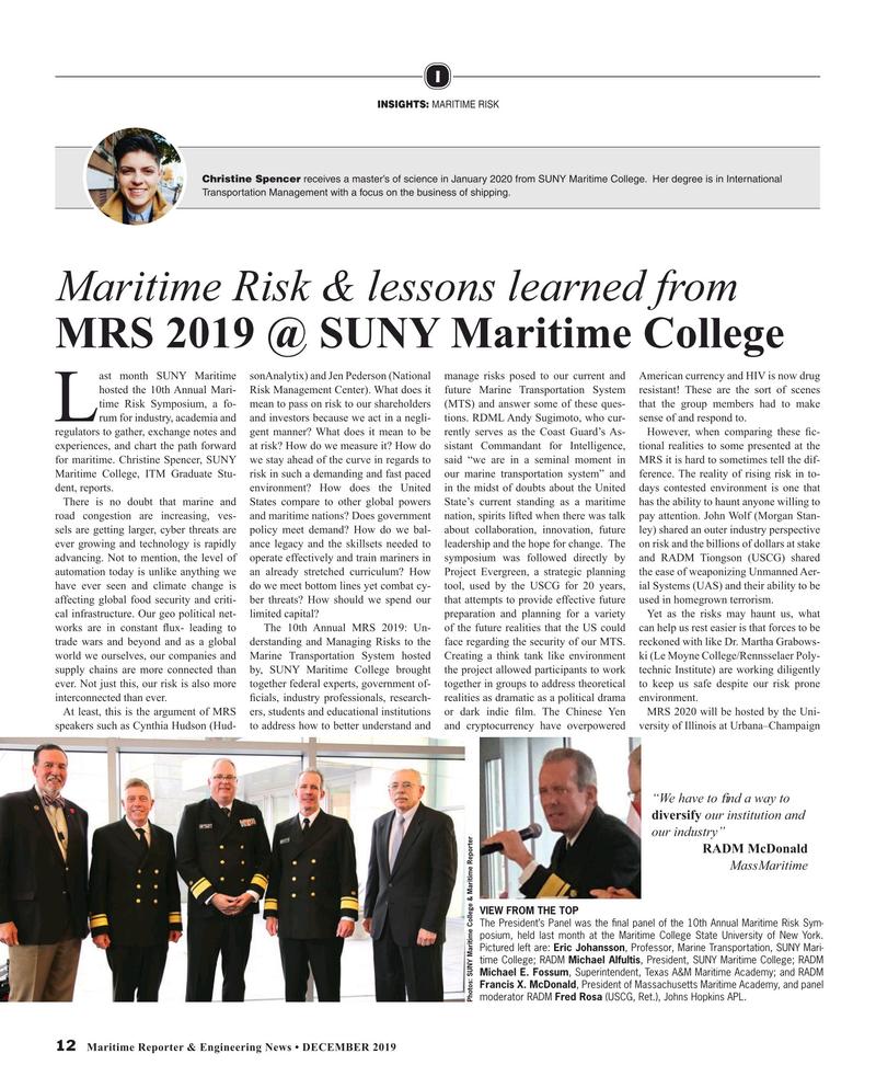 Maritime Reporter Magazine, page 12,  Dec 2019