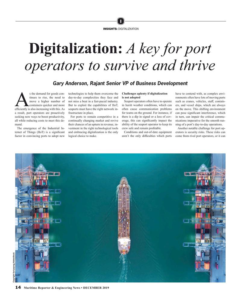 Maritime Reporter Magazine, page 14,  Dec 2019