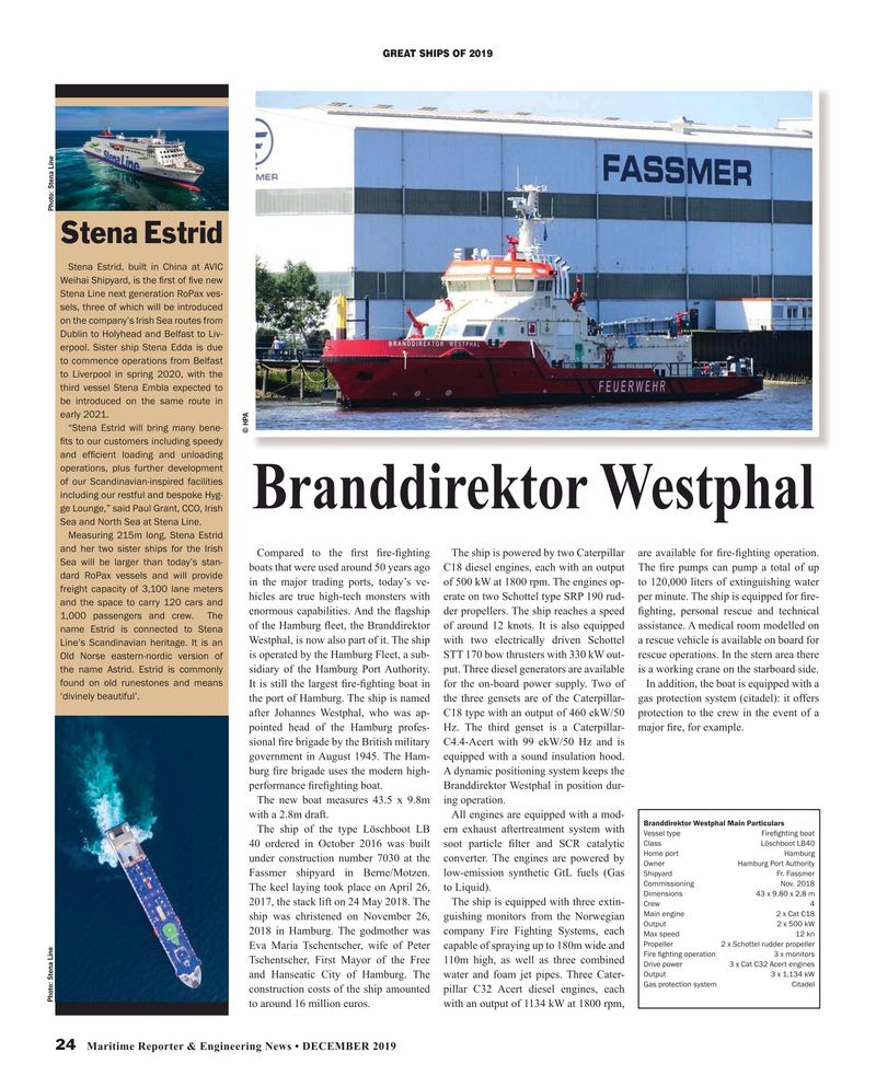Maritime Reporter Magazine, page 24,  Dec 2019