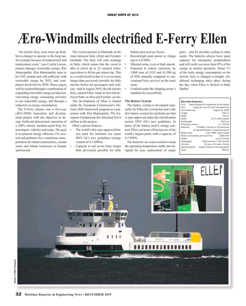 Maritime Reporter Magazine, page 32,  Dec 2019