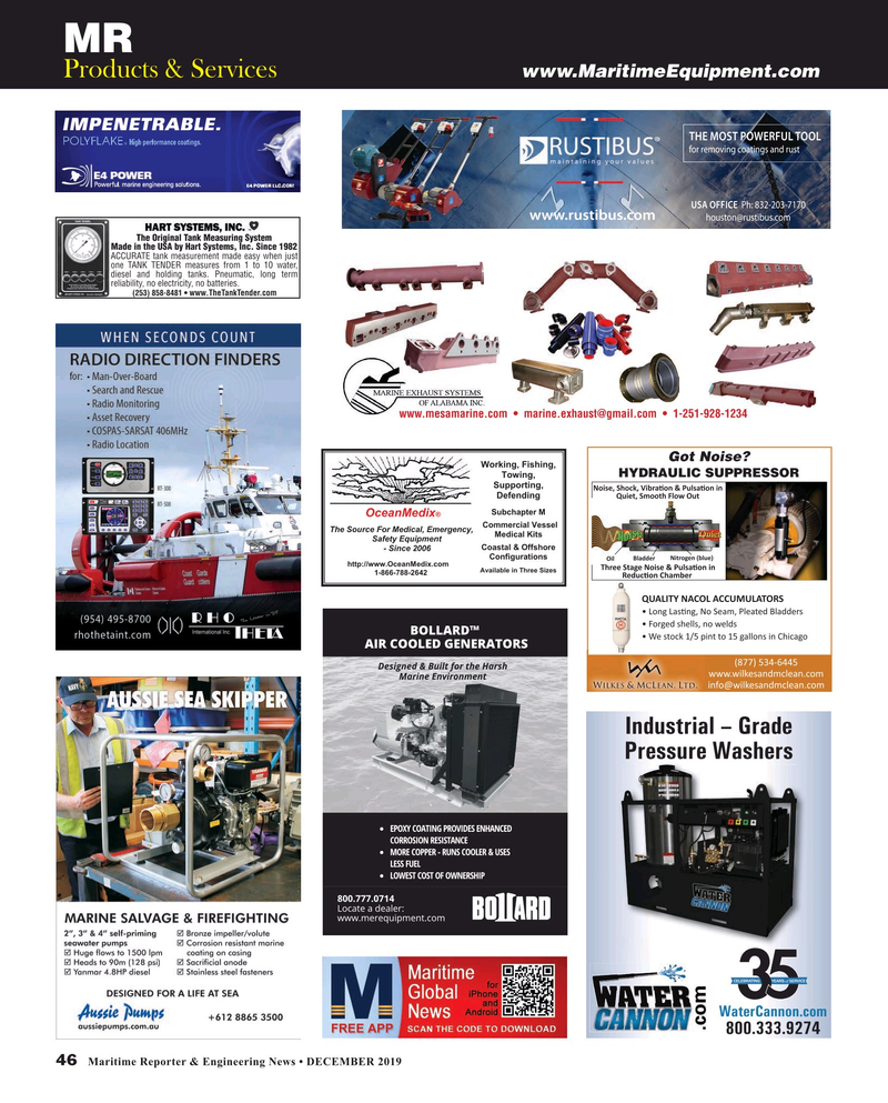 Maritime Reporter Magazine, page 46,  Dec 2019