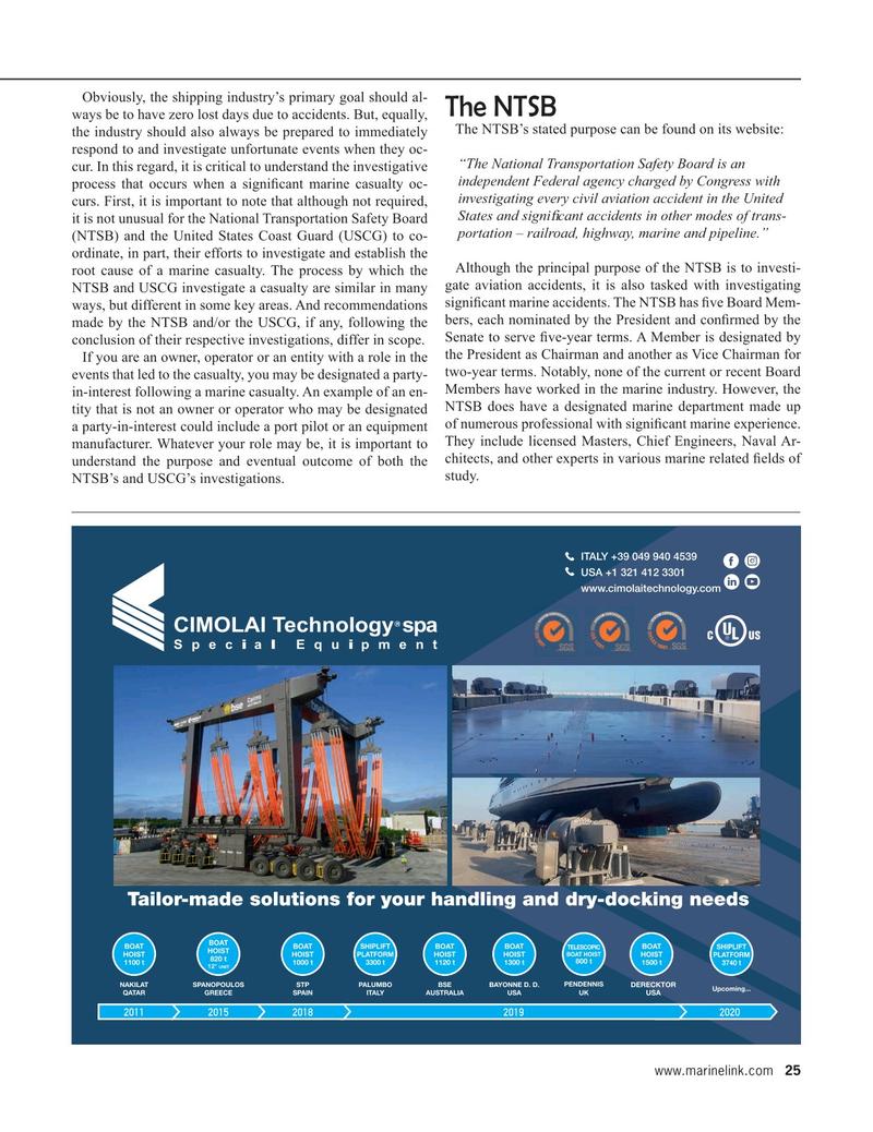 Maritime Reporter Magazine, page 25,  Jan 2020
