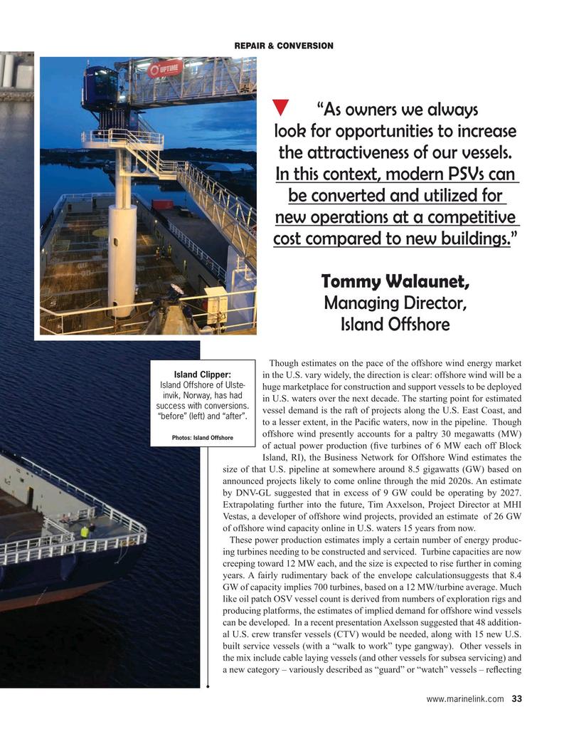 Maritime Reporter Magazine, page 33,  Jan 2020