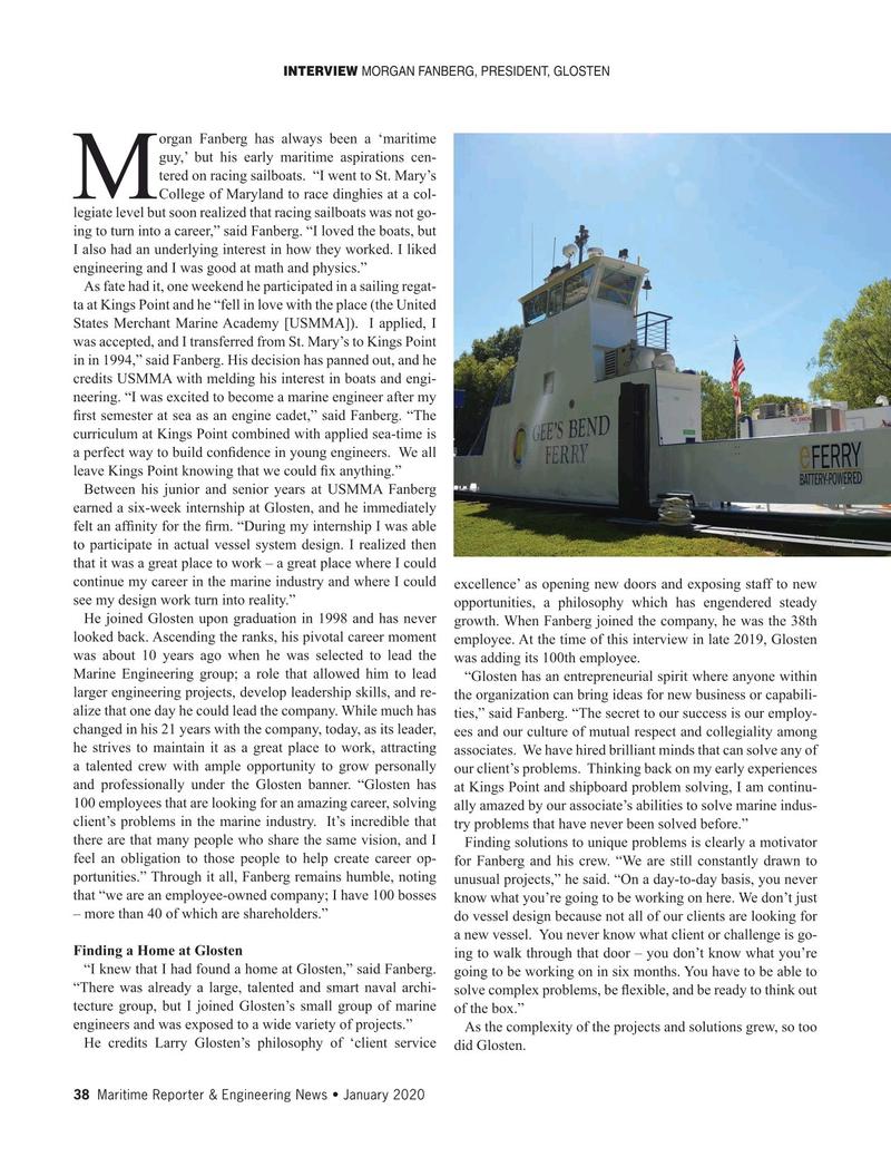 Maritime Reporter Magazine, page 38,  Jan 2020