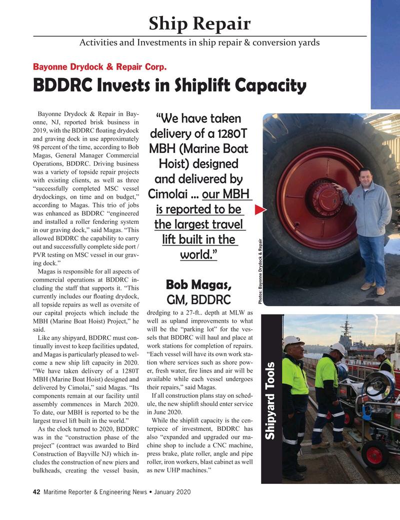 Maritime Reporter Magazine, page 42,  Jan 2020