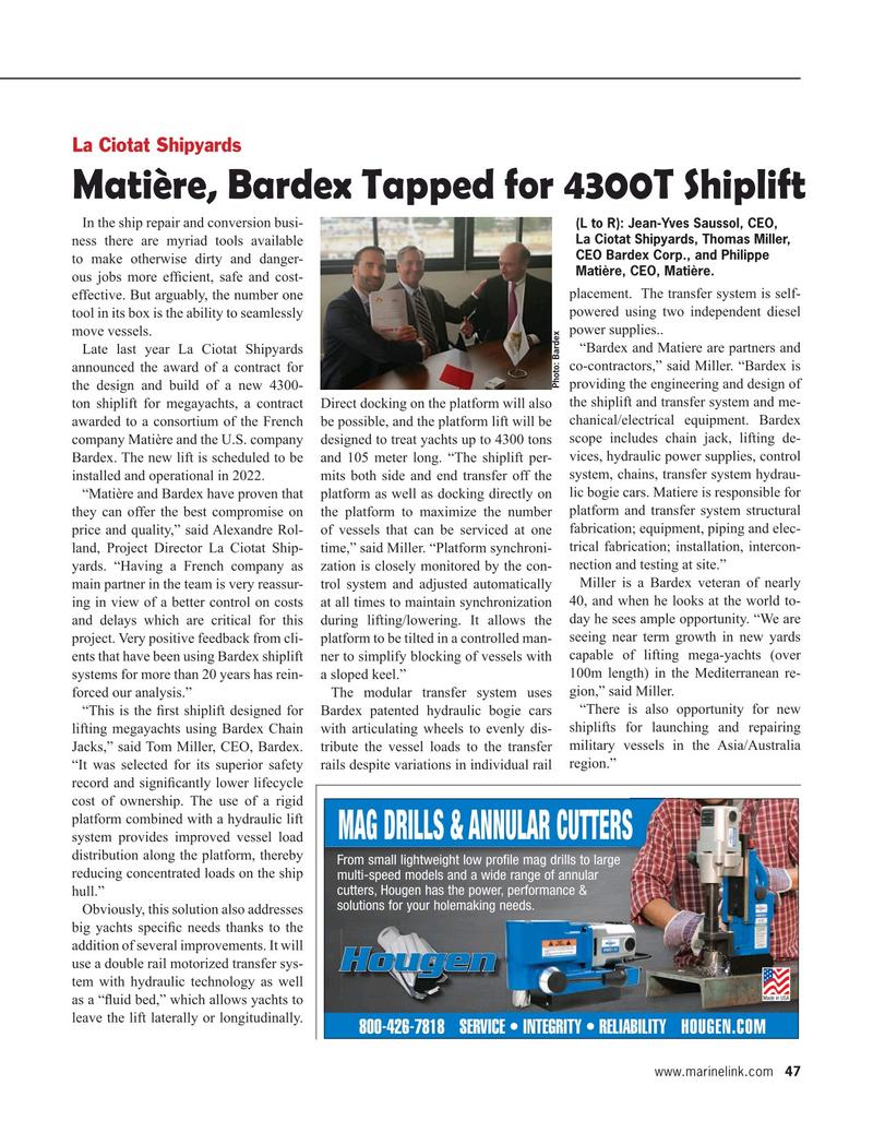 Maritime Reporter Magazine, page 47,  Jan 2020