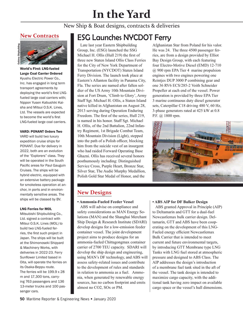 Maritime Reporter Magazine, page 50,  Jan 2020