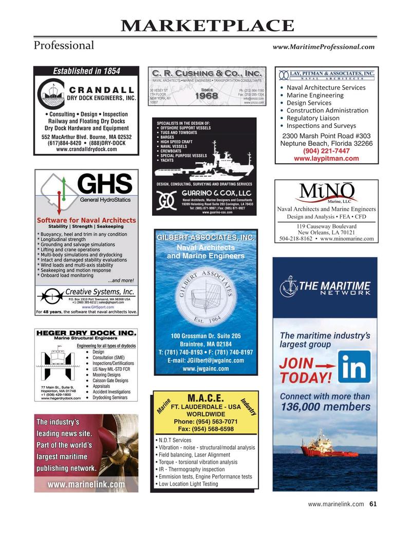 Maritime Reporter Magazine, page 61,  Jan 2020