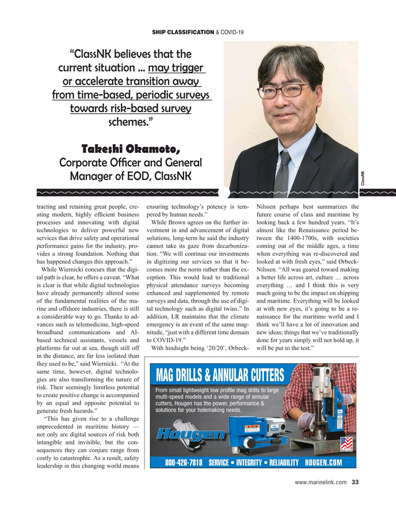 Maritime Reporter Magazine, page 33,  May 2020