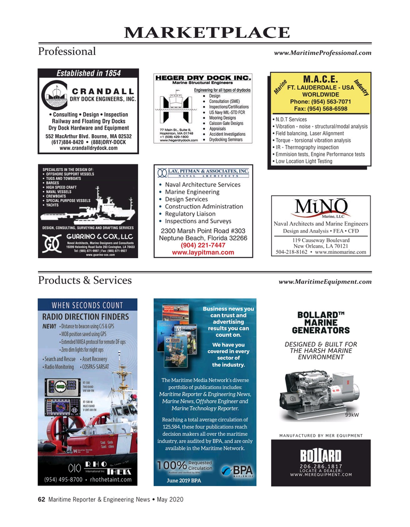 Maritime Reporter Magazine, page 62,  May 2020