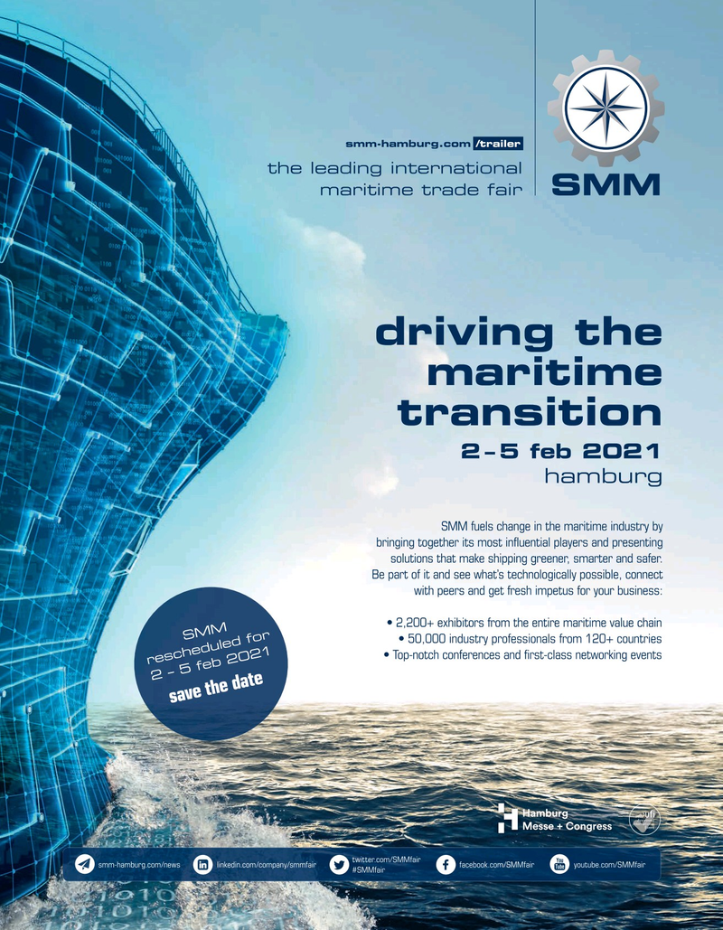 Maritime Reporter Magazine, page 3rd Cover,  May 2020