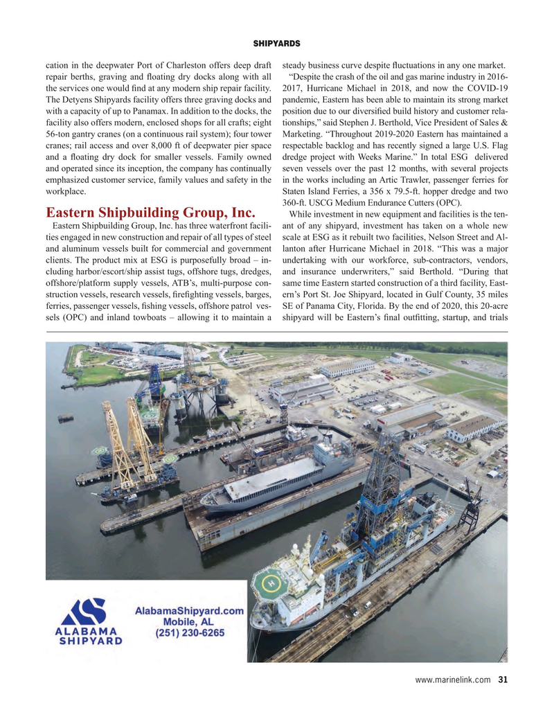 Maritime Reporter Magazine, page 31,  Aug 2020
