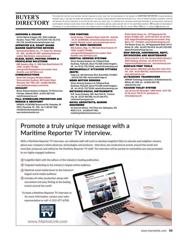 Maritime Reporter Magazine, page 59,  Aug 2020