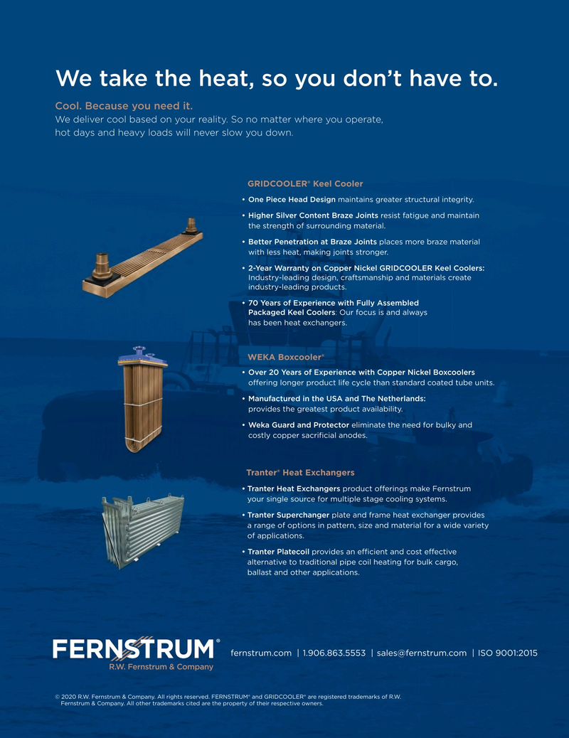 Maritime Reporter Magazine, page 4th Cover,  Aug 2020
