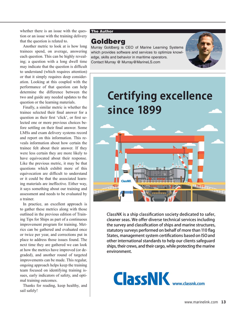Maritime Reporter Magazine, page 13,  Sep 2020