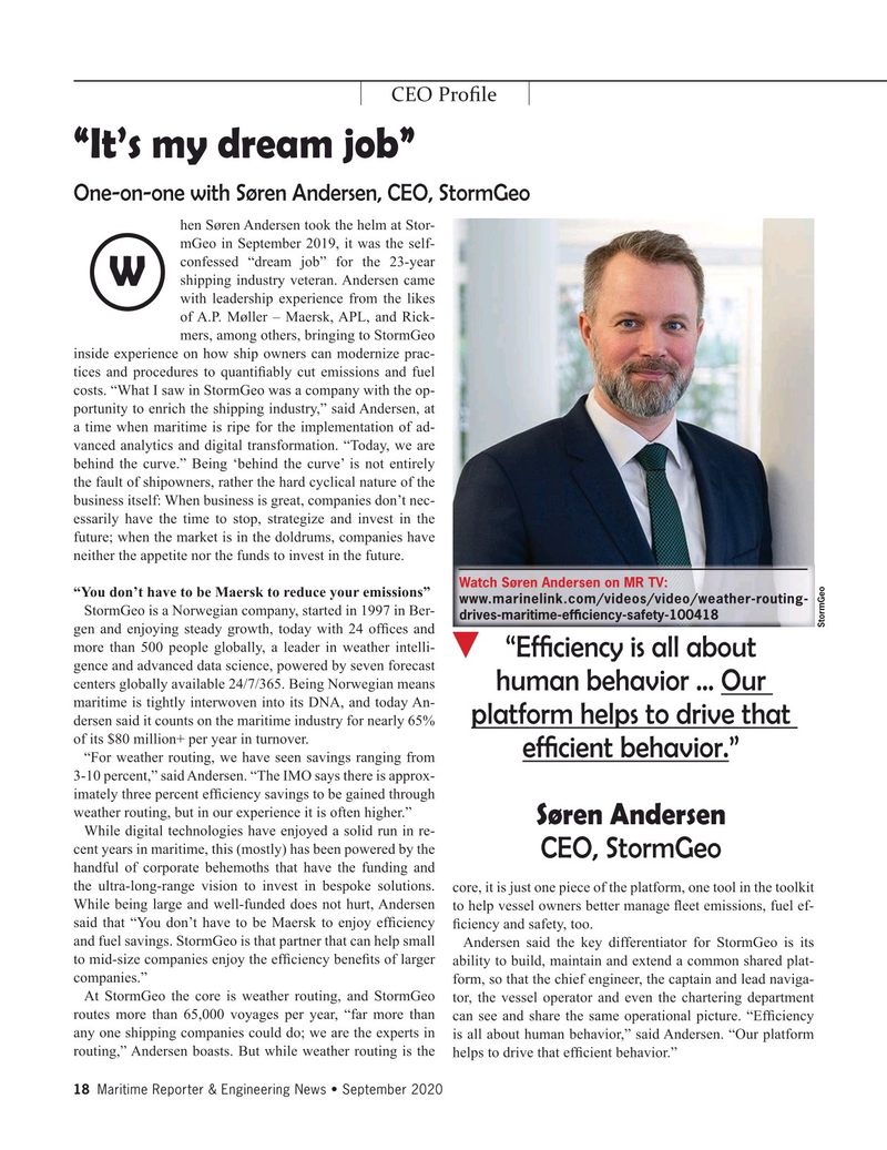 Maritime Reporter Magazine, page 18,  Sep 2020