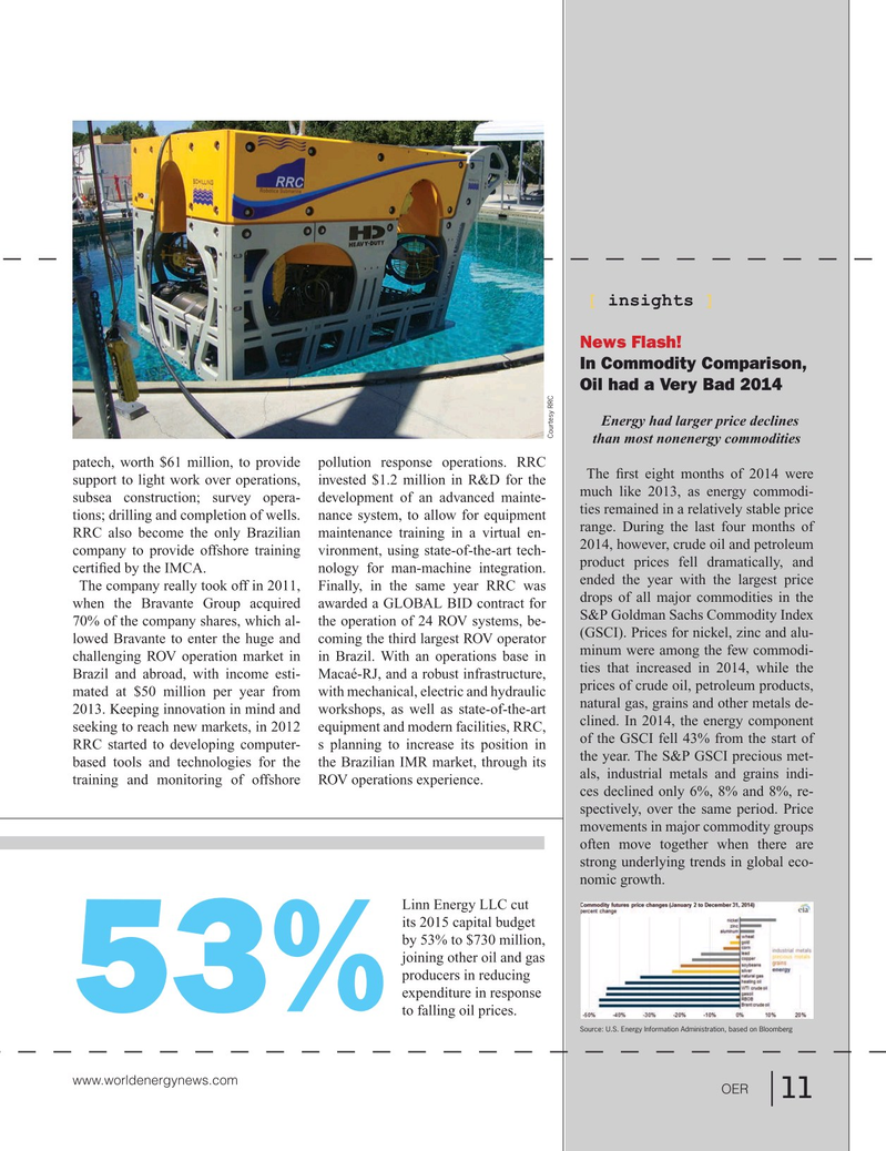 Offshore Energy Reporter Magazine, page 9,  Jan 2015