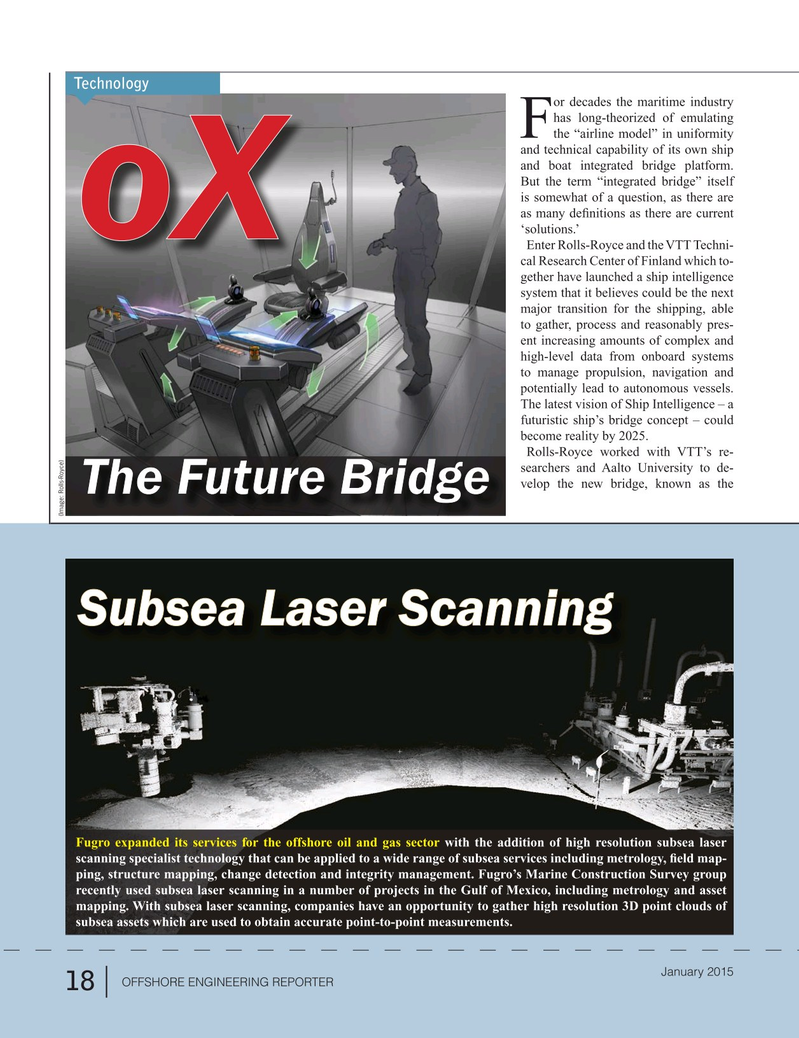 Offshore Energy Reporter Magazine, page 16,  Jan 2015
