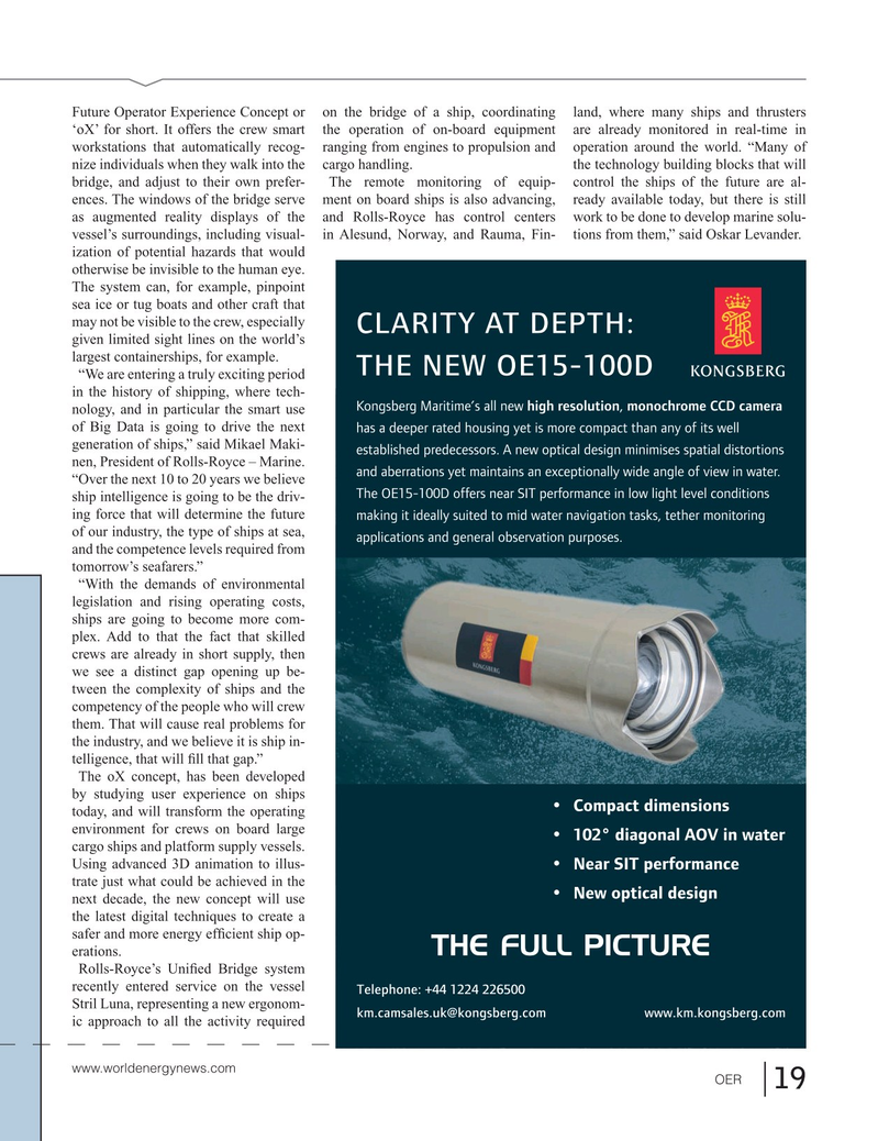 Offshore Energy Reporter Magazine, page 17,  Jan 2015