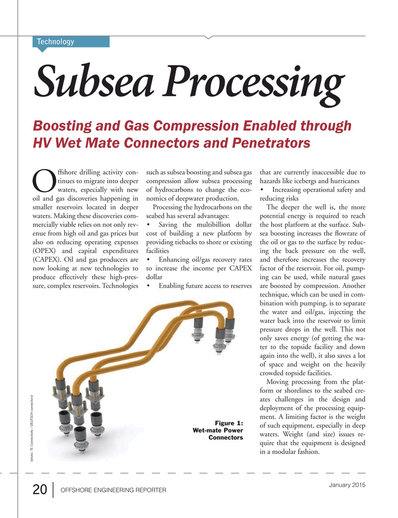 Offshore Energy Reporter Magazine, page 18,  Jan 2015