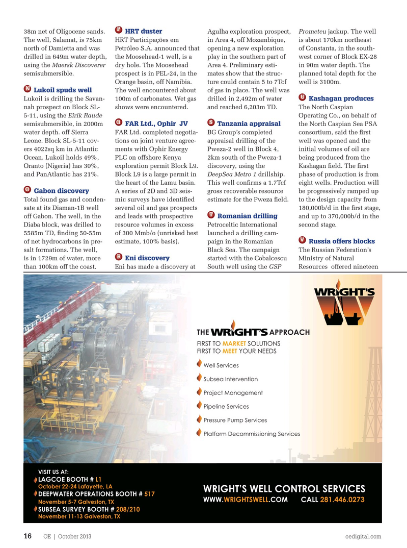 Offshore Engineer Magazine October 2013, 14 page
