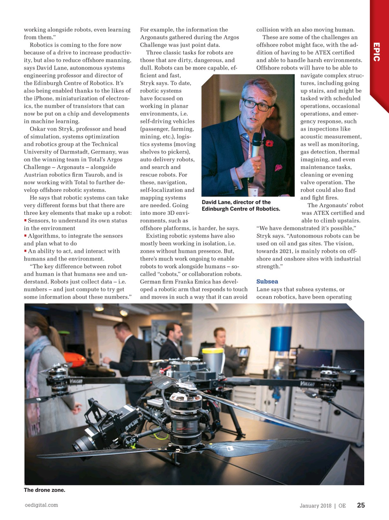 Offshore Engineer Magazine, page 23,  Jan 2018