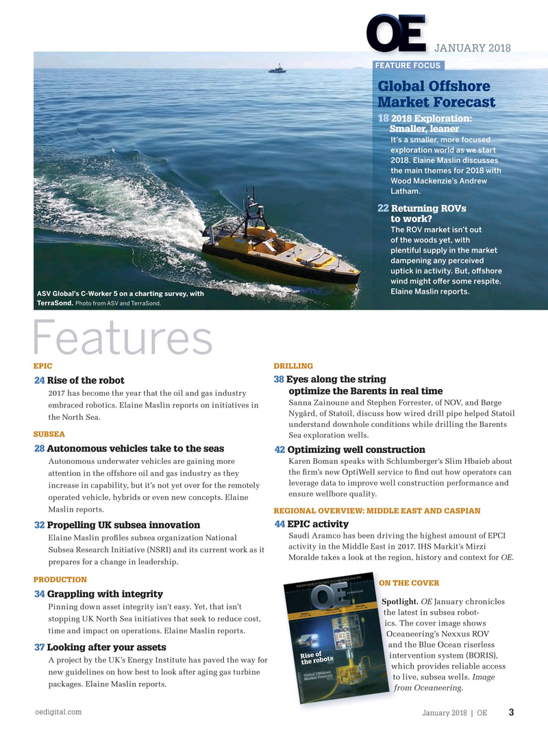 Offshore Engineer Magazine, page 1,  Jan 2018