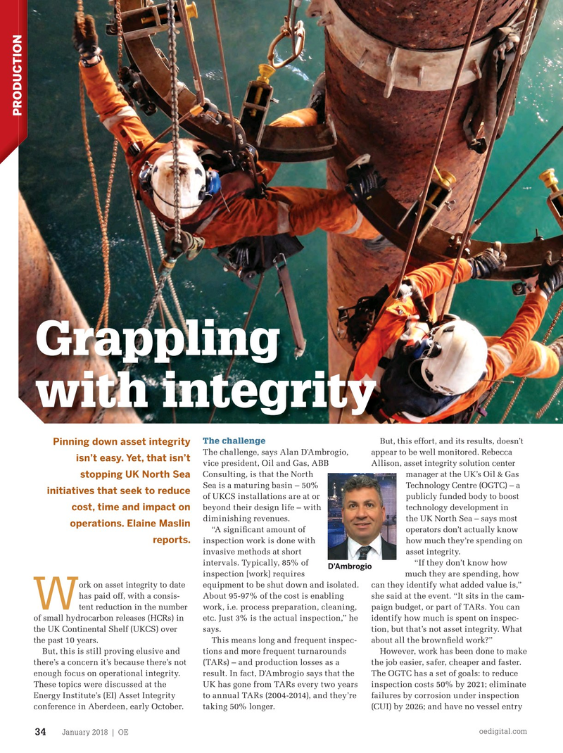Offshore Engineer Magazine, page 32,  Jan 2018