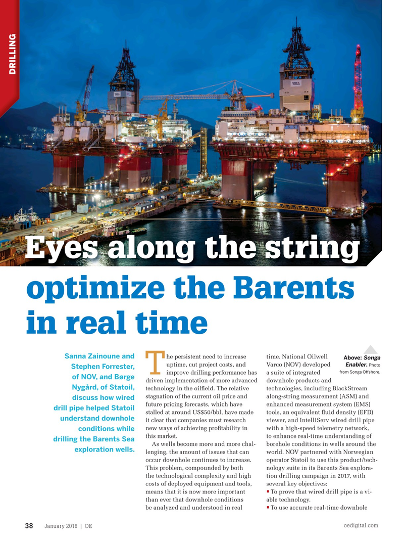 Offshore Engineer Magazine, page 36,  Jan 2018