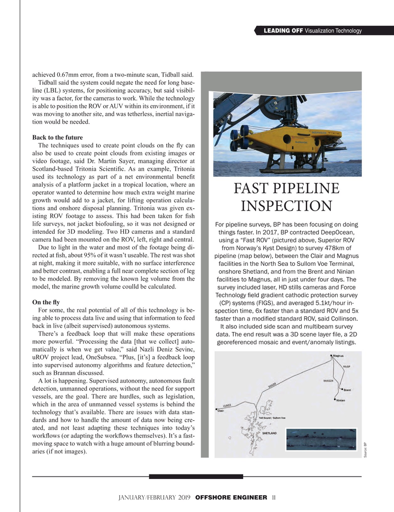 Offshore Engineer Magazine, page 11,  Jan 2019