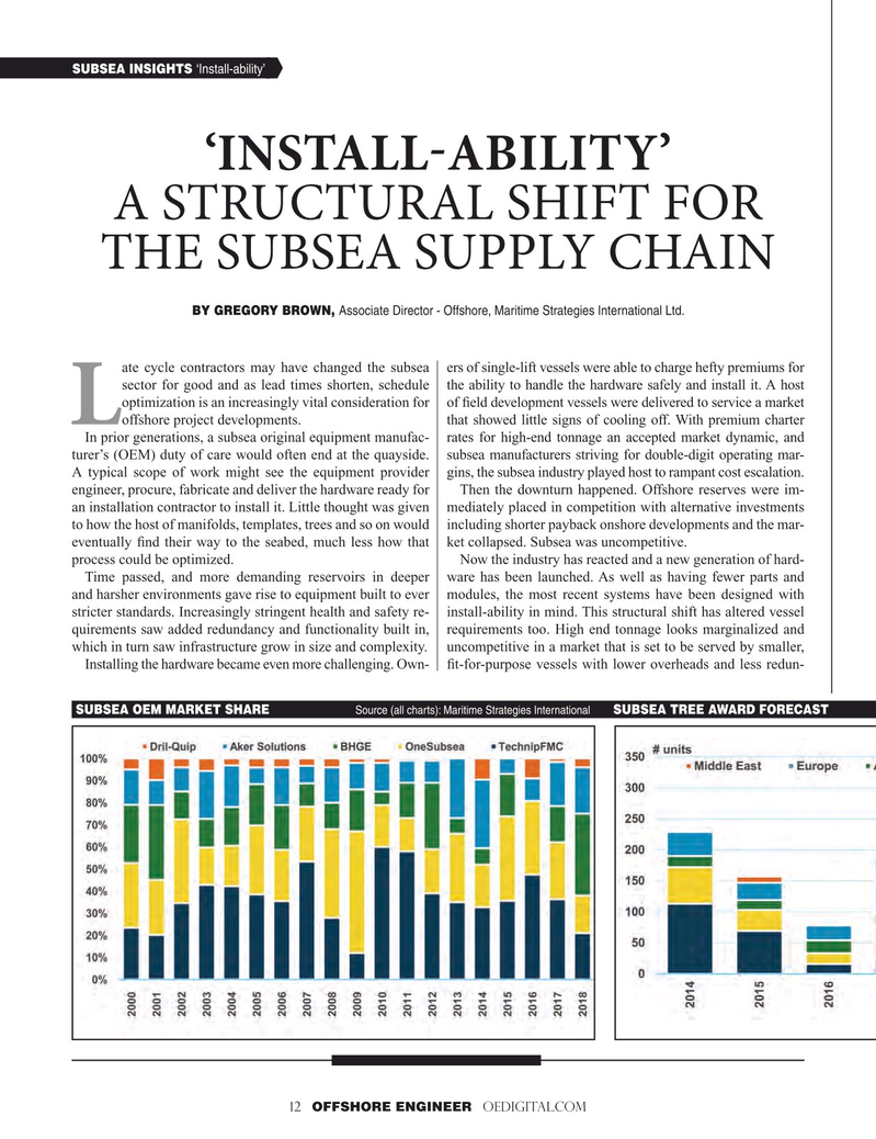 Offshore Engineer Magazine, page 12,  Jan 2019