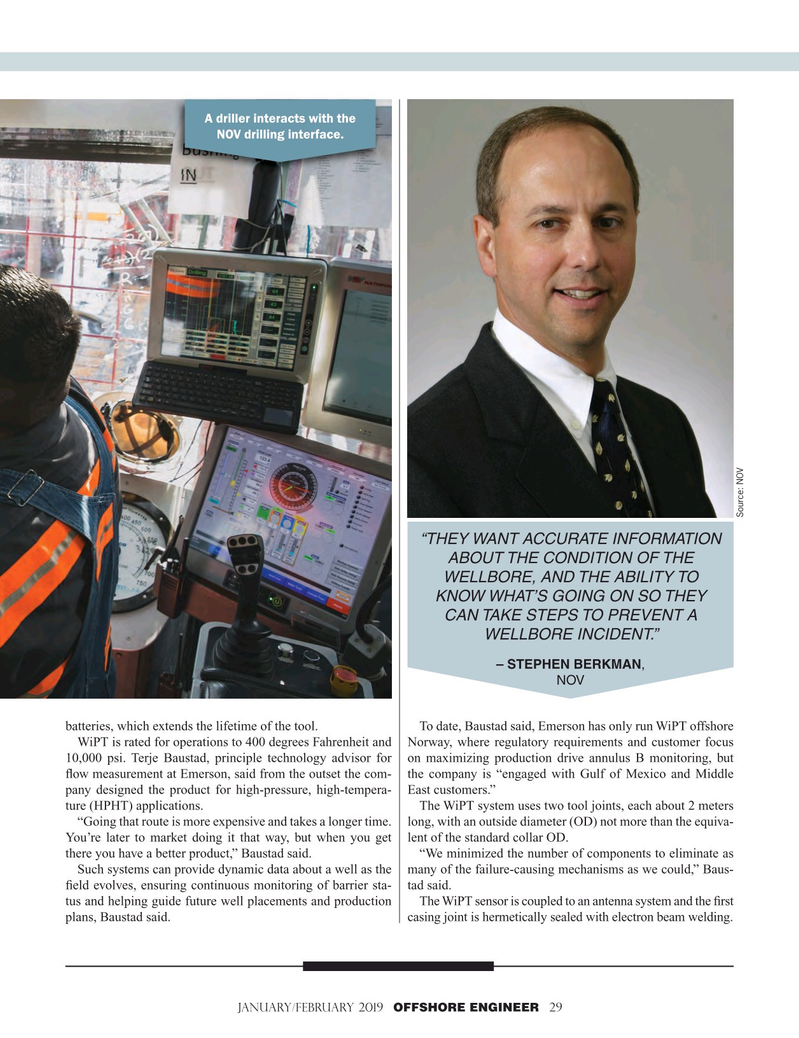 Offshore Engineer Magazine, page 29,  Jan 2019
