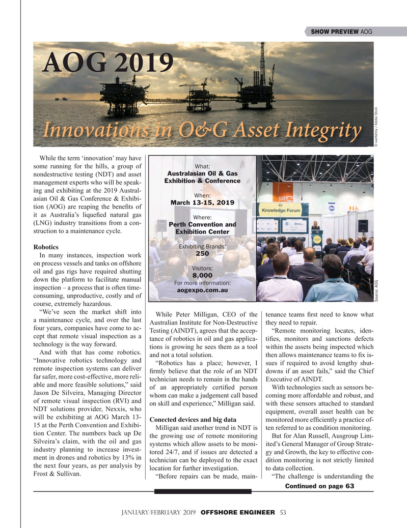 Offshore Engineer Magazine, page 53,  Jan 2019